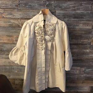 Anthropologie Ryu cream coat sooo cute!!